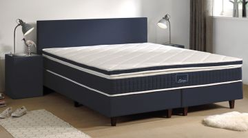 Sleepy Scandinavian Hotelbox Set Lederlook Blauw