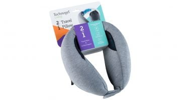 2 in 1 travel pillow + lumbar support